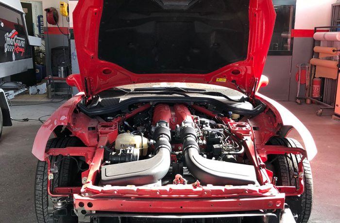 M3 – Ferrari California – Nettoyage des radiateurs