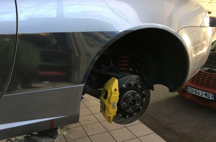 M2 – Jaguar XKR Piste – Installation freinage